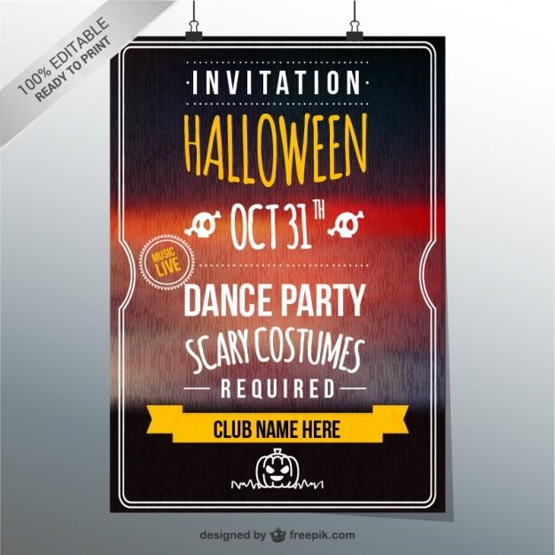 Plantilla de la invitación del fiesta de halloween | Descargar ...