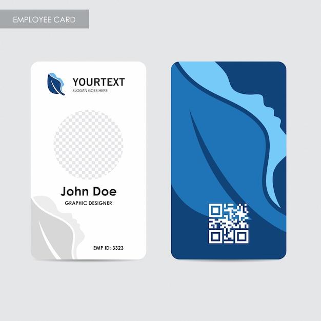 Plantilla de la tarjeta del empleado del informe anual, diseño de la ...