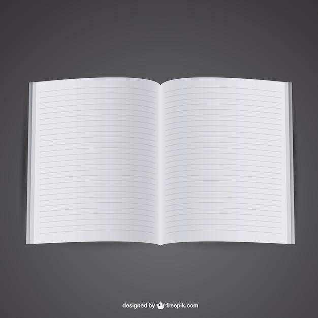 Plantilla de libro abierto | Descargar Vectores gratis