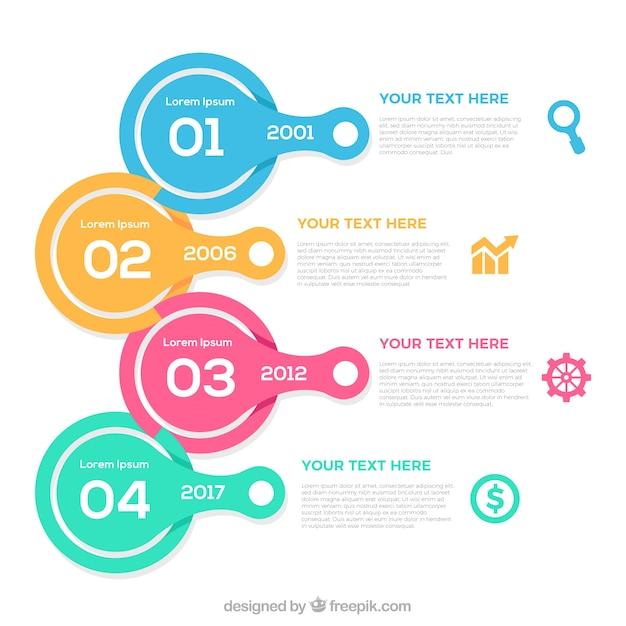 Plantilla de linea de tiempo infográfica Vector Gratis