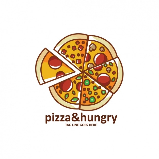 Plantilla de logo con forma de pizza   Descargar Vectores gratis