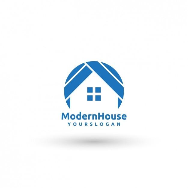 Plantilla de logo de casa moderna descargar vectores gratis for Casa moderna vector