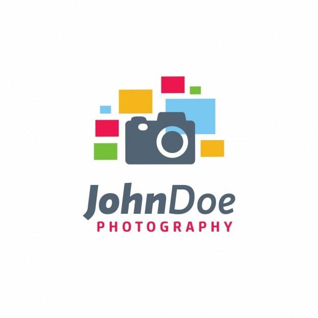 Plantilla de logo de fotograf a creativa descargar for Camera blueprint maker gratuito