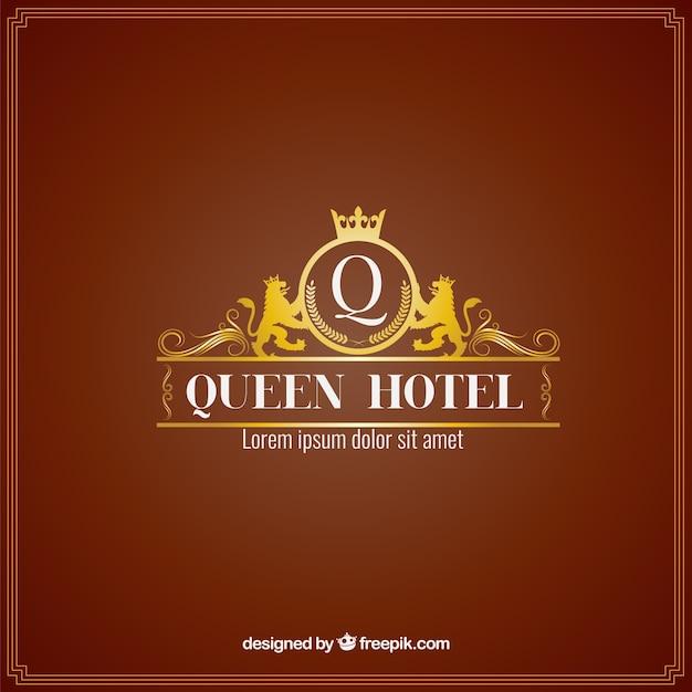 Plantilla de logo de hotel lujoso   Descargar Vectores gratis