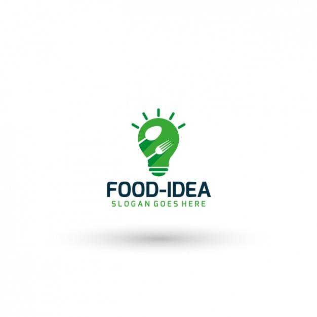 Plantilla de logo de ideas culinarias