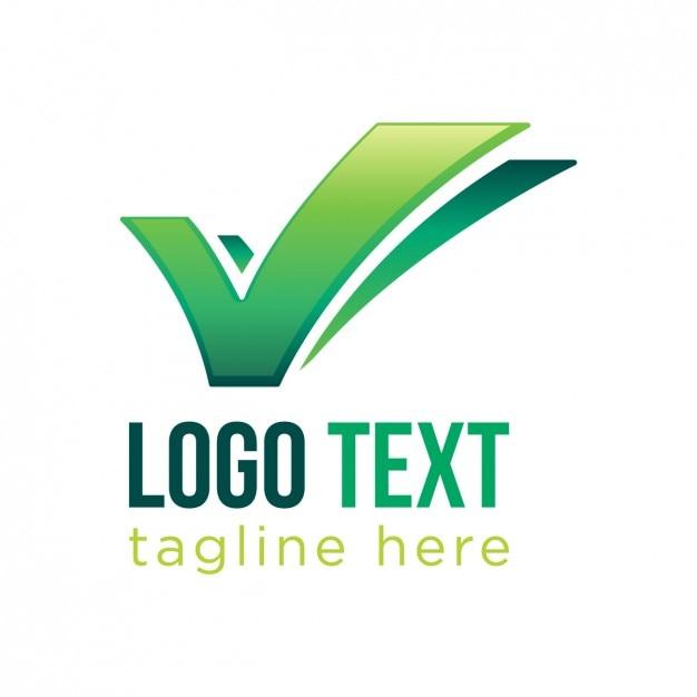 plantilla de logo de negocios marca de chequeo descargar