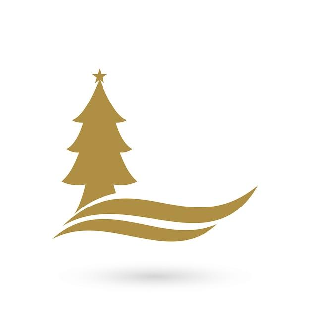 Plantilla de logotipo de árbol de Navidad   Descargar Vectores Premium