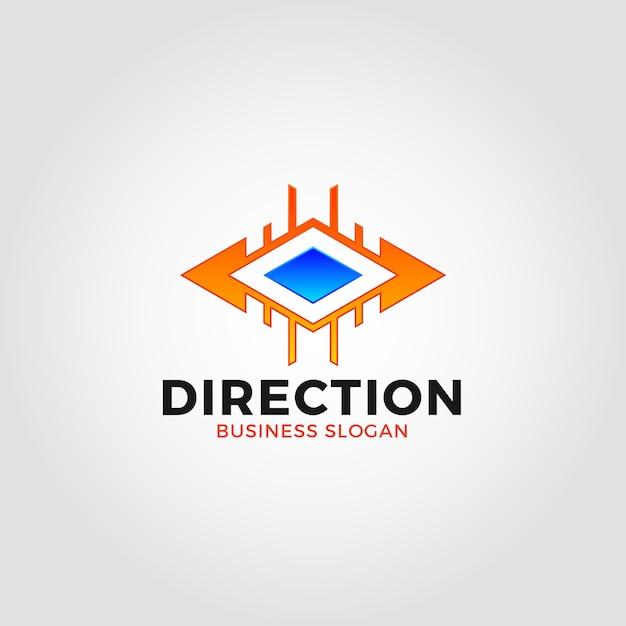 Plantilla de logotipo de dirección de dos maneras   Descargar ...