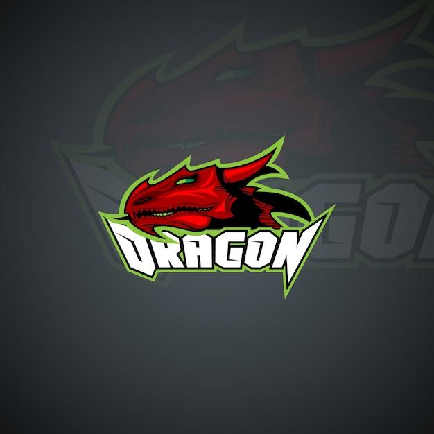 Plantilla de logotipo de dragón. Imagen de vector de alta ...