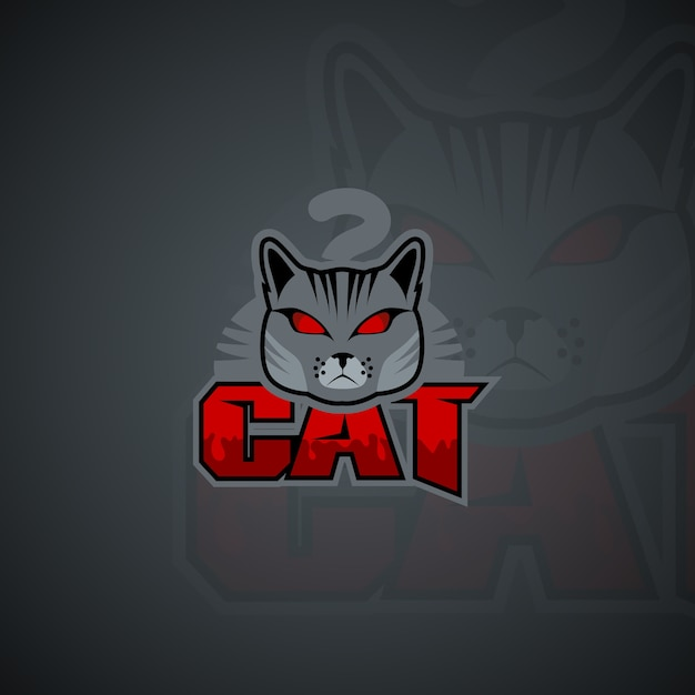 Plantilla de logotipo de gato. Imagen de vector de alta resolución ...
