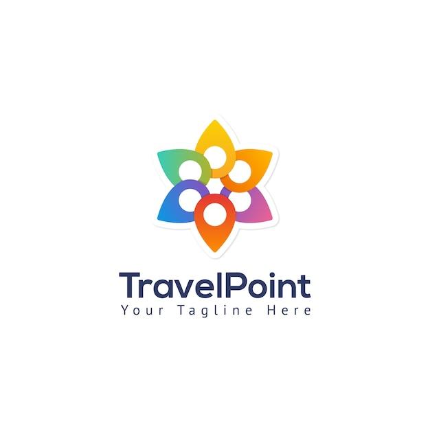 Plantilla de logotipo de pin de mapa de puntos de viaje | Descargar ...