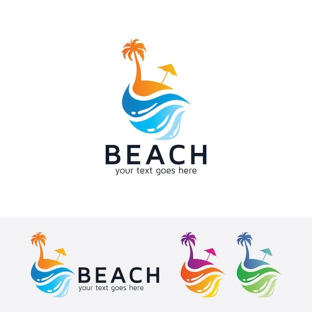 Plantilla de logotipo de vacaciones de playa | Descargar Vectores ...