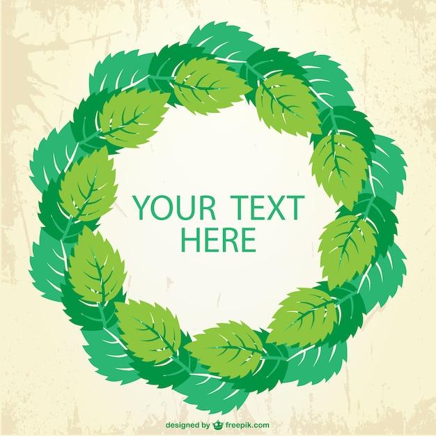 Plantilla de marco con hojas verdes | Descargar Vectores gratis