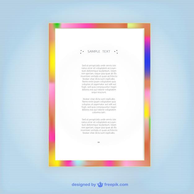 Plantilla de marco de colores | Descargar Vectores gratis