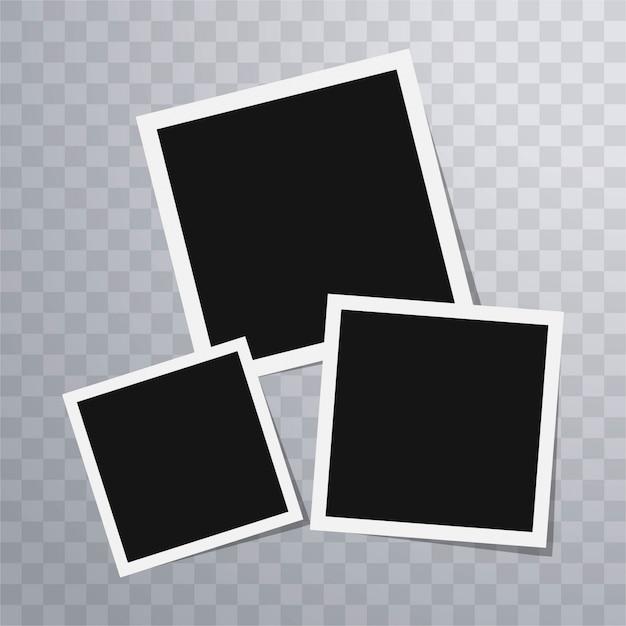 Plantilla de marcos de foto polaroid | Descargar Vectores gratis