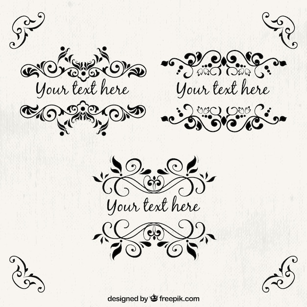 Plantilla de marcos ornamentales | Descargar Vectores gratis