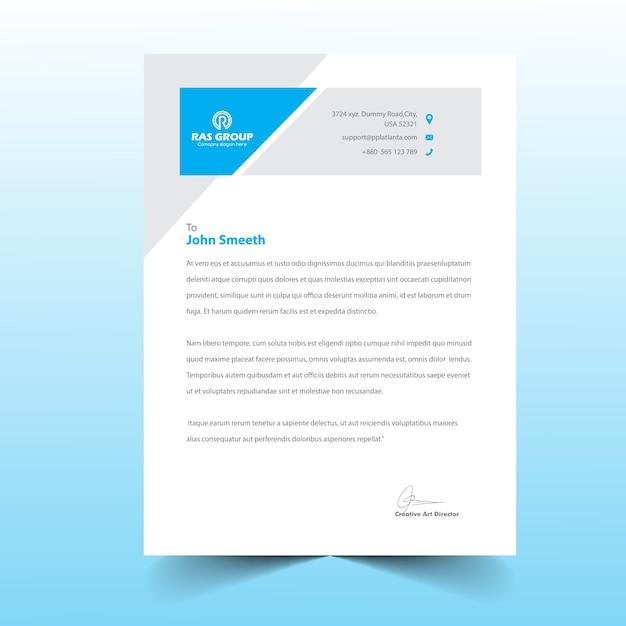 Plantilla de membrete | Descargar Vectores Premium