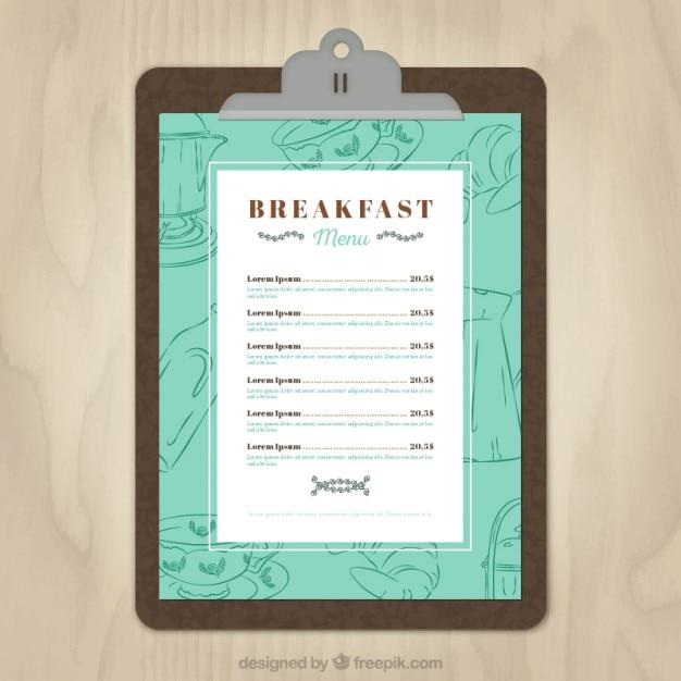 Plantilla de menu de desayuno | Descargar Vectores gratis