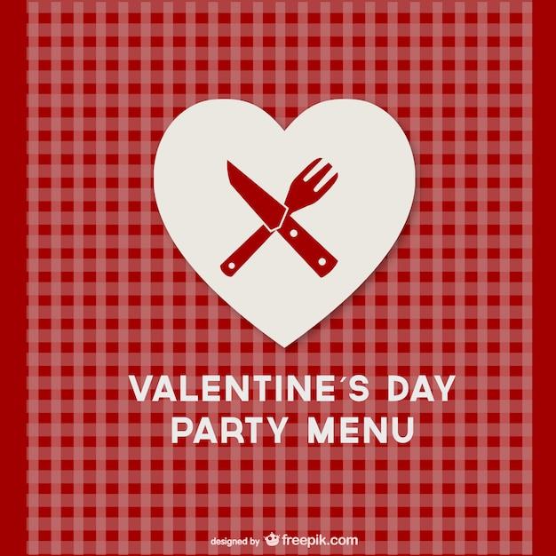 Plantilla de menú de día de San Valentín | Descargar Vectores gratis