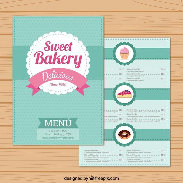 Sweet Cake Bake Shop Menu
