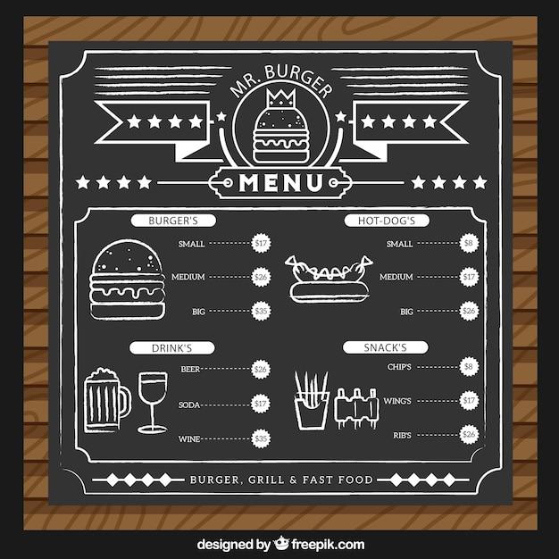 Plantilla de menú de hamburguesa | Descargar Vectores gratis