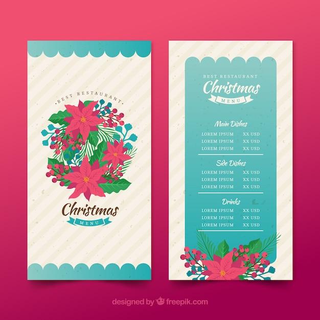Plantilla de menu de navidad | Descargar Vectores gratis