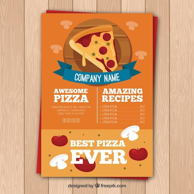 Plantilla de menú de pizza | Descargar Vectores gratis