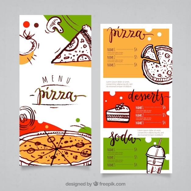 Atractivo Plantilla De Menú De Pizza Motivo - Colección De ...