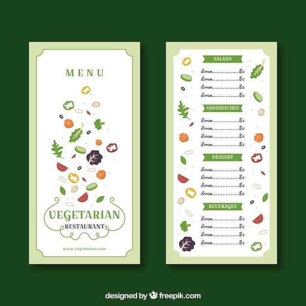Plantilla de menú de restaurante en estilo plano | Descargar ...