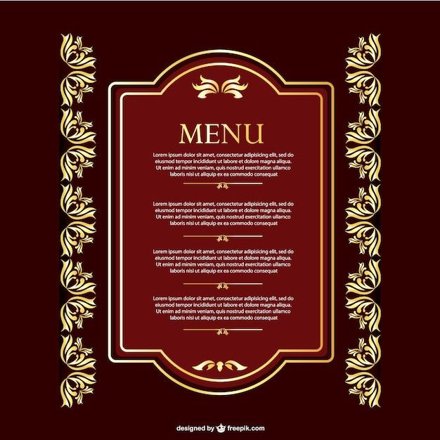 Plantilla de menú vintage | Descargar Vectores gratis
