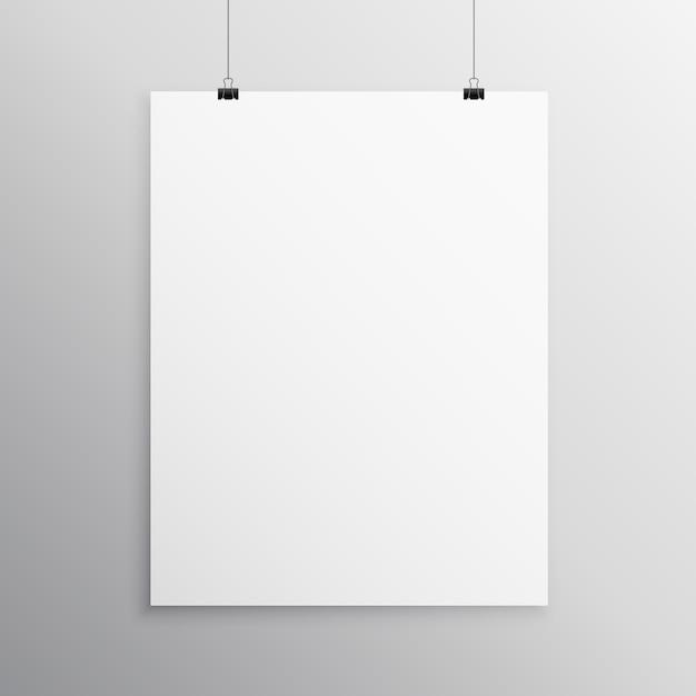 Plantilla de mockup en blanco flyer colgando con clip | Descargar ...