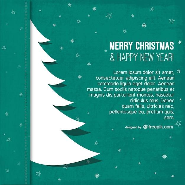 Plantilla de navidad con silueta de árbol   Descargar Vectores gratis