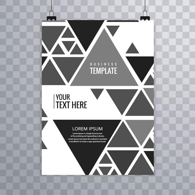 Plantilla de negocios colgando triangular | Descargar Vectores gratis