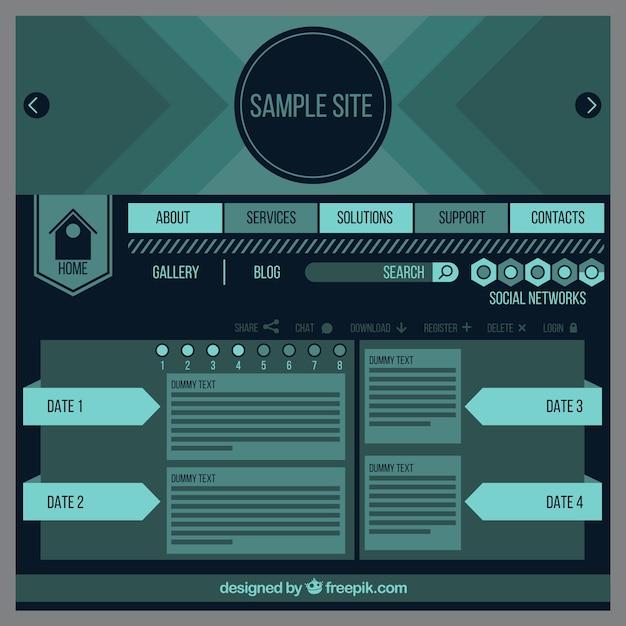 Plantilla de página web de la vendimia | Descargar Vectores Premium