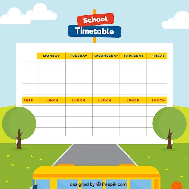 Plantilla de paisaje de calendario escolar | Descargar Vectores gratis