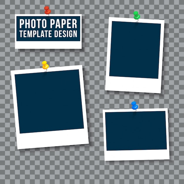 Plantilla de papel fotográfico | Descargar Vectores gratis