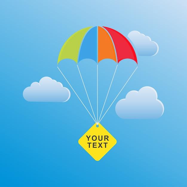 Plantilla de paracaídas | Descargar Vectores Premium
