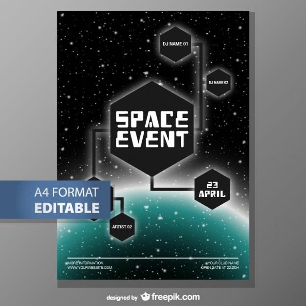 Plantilla de póster editable | Descargar Vectores gratis