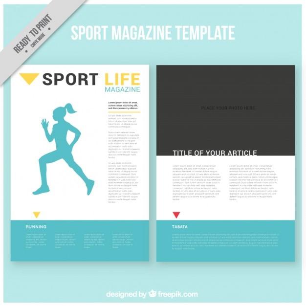 Plantilla de revista de deportes | Descargar Vectores gratis
