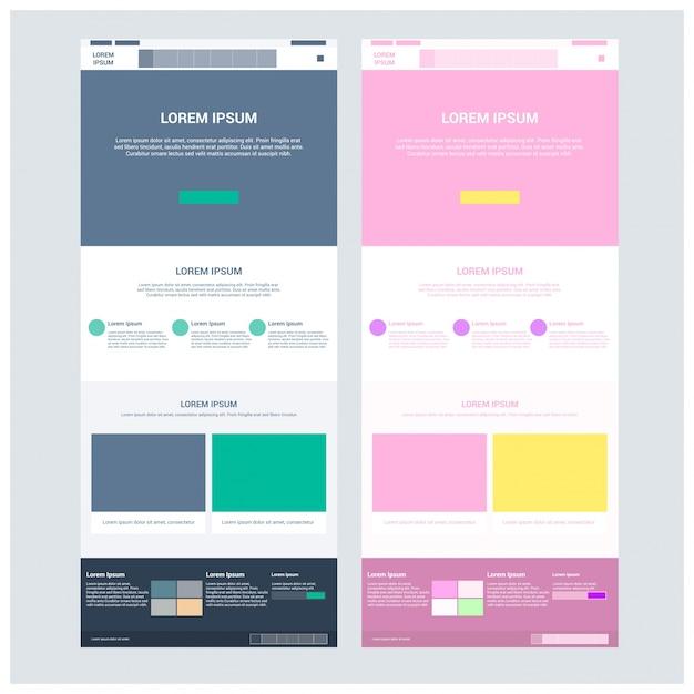 Plantilla de sitio web de dos páginas y diseños de encabezado ...