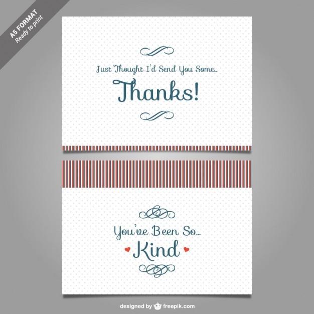 Plantilla de tarjeta de agradecimiento | Descargar Vectores gratis