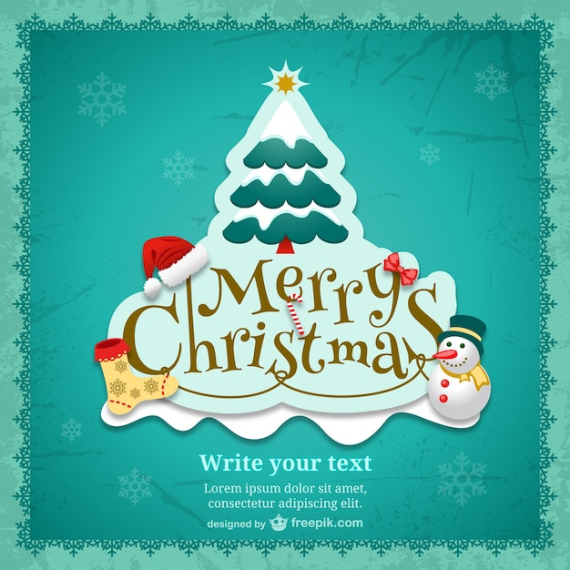 Plantilla de tarjeta de navidad con dibujos de colores - Dibujos navidad gratis ...