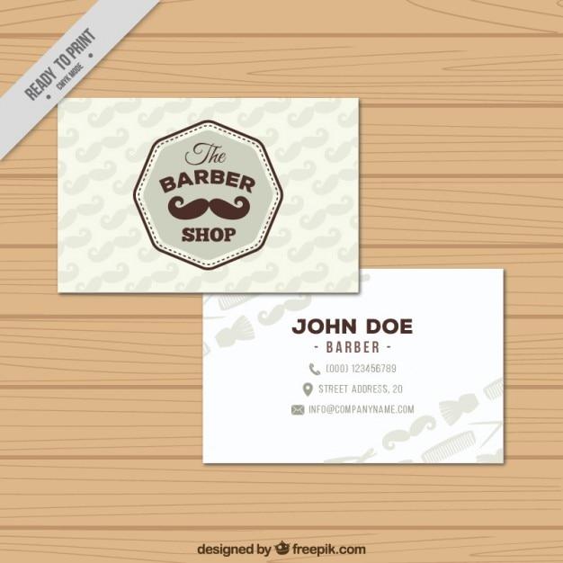Plantilla de tarjetas de visita de barbería | Descargar Vectores gratis