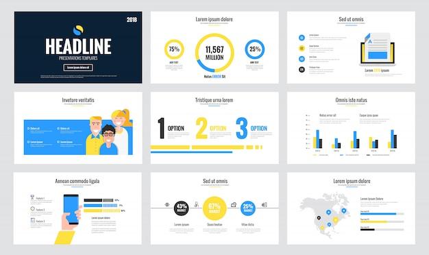 Plantilla de diapositiva de infografía Vector Premium