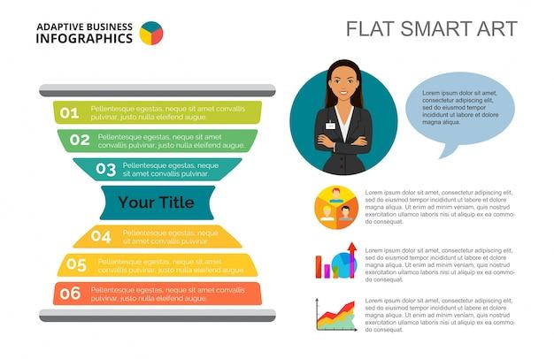 Plantilla de diapositiva de sandglass infographics vector gratuito