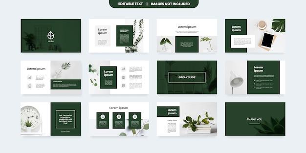 Plantilla de diapositivas de powerpoint de estilo minimalista Vector Premium