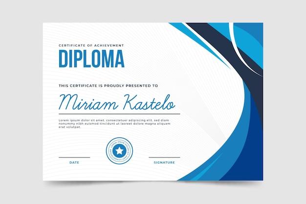 Plantilla de diploma vector gratuito