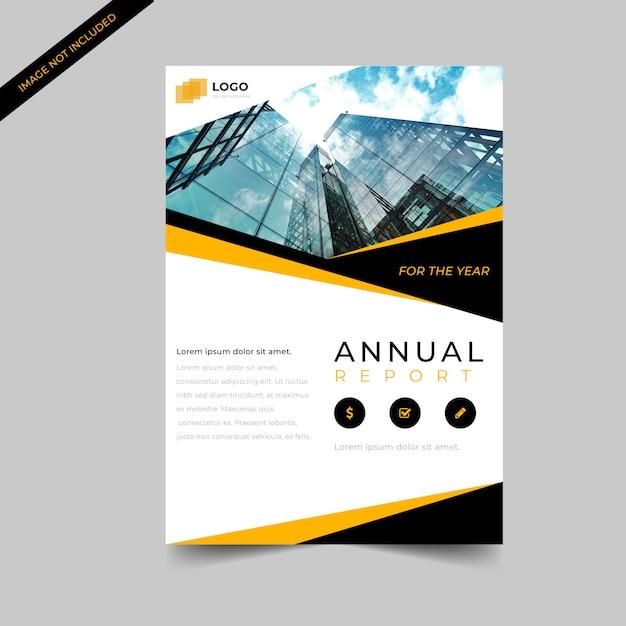 Plantilla de diseño abstracto de folleto de negocio corporativo simple Vector Premium