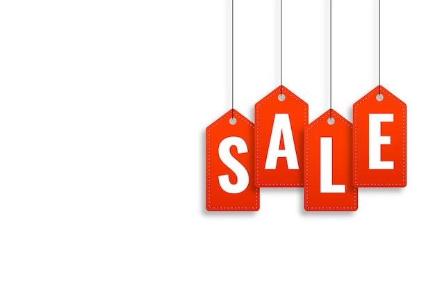 Plantilla de diseño de banner de estilo de etiqueta de precio de venta rojo vector gratuito