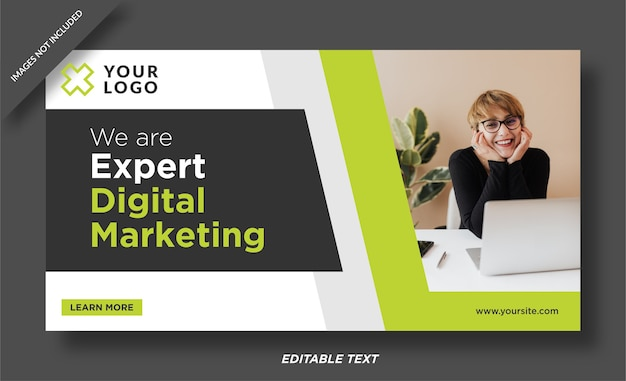 Plantilla de diseño de banner de experto en marketing digital Vector Premium